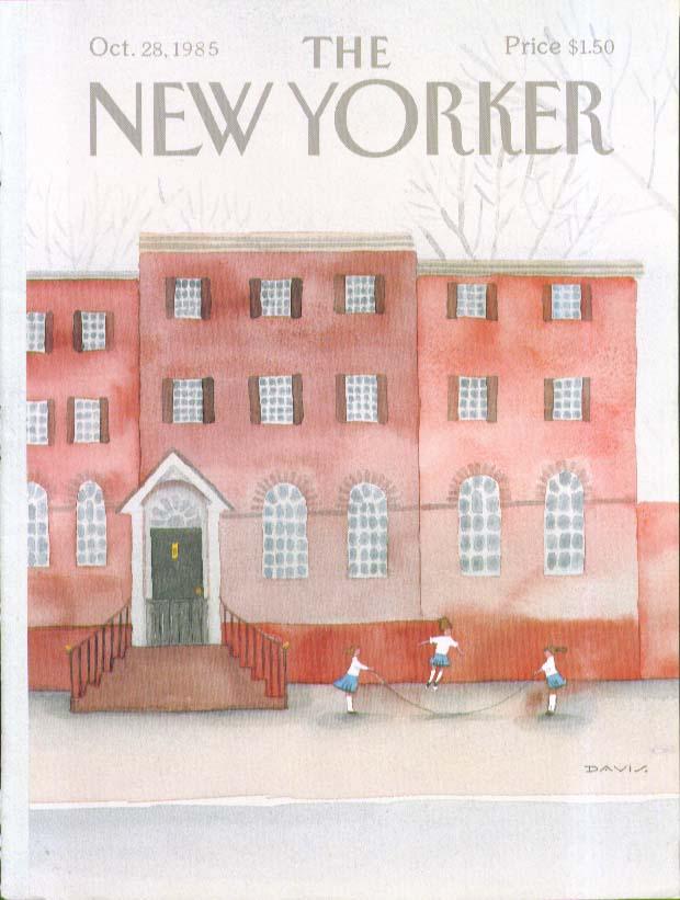 New Yorker cover Davis schoolgirl jumprope 10/28 1985