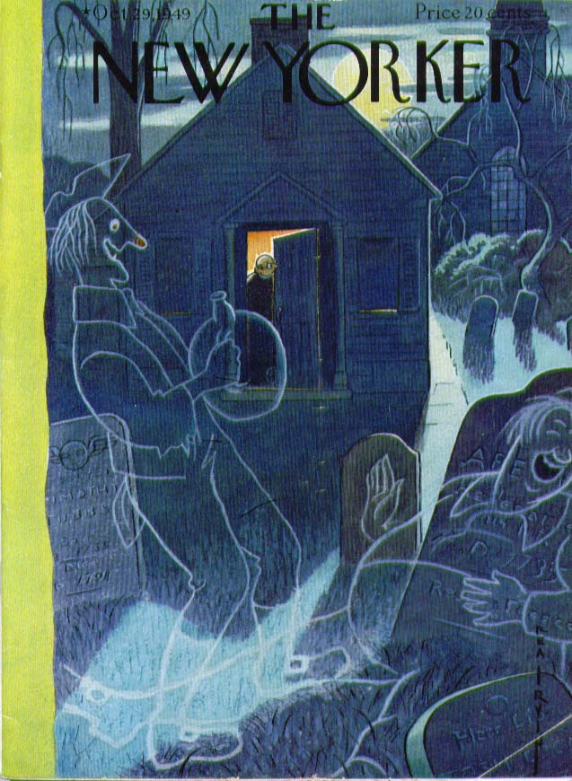 New Yorker cover Irvin graveyard ghosts 10/29 1949