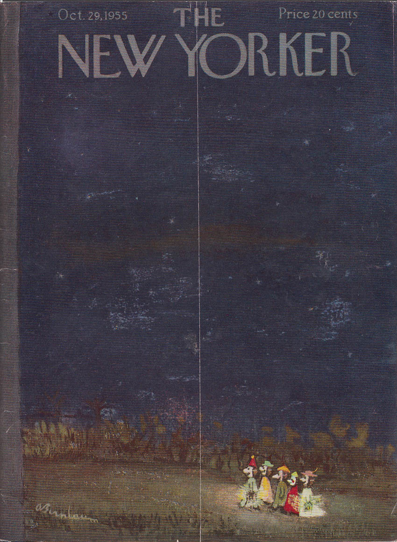 New Yorker cover Birnbaum Halloween kids 10/29 1955