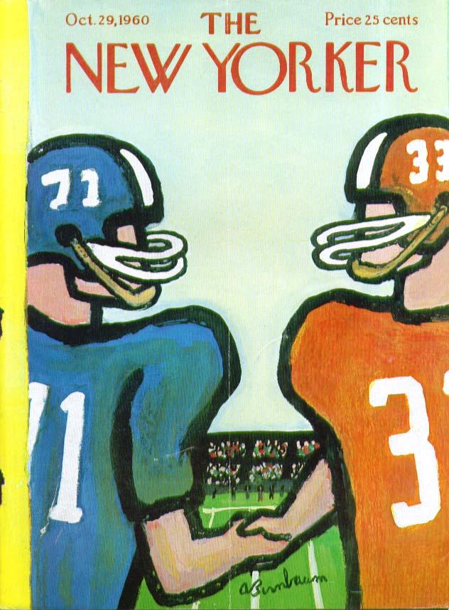 New Yorker cover Birnbaum football handshake 10/29 1960