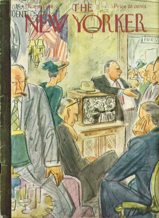 Image for New Yorker cover Barlow election on TV 10/30 1948