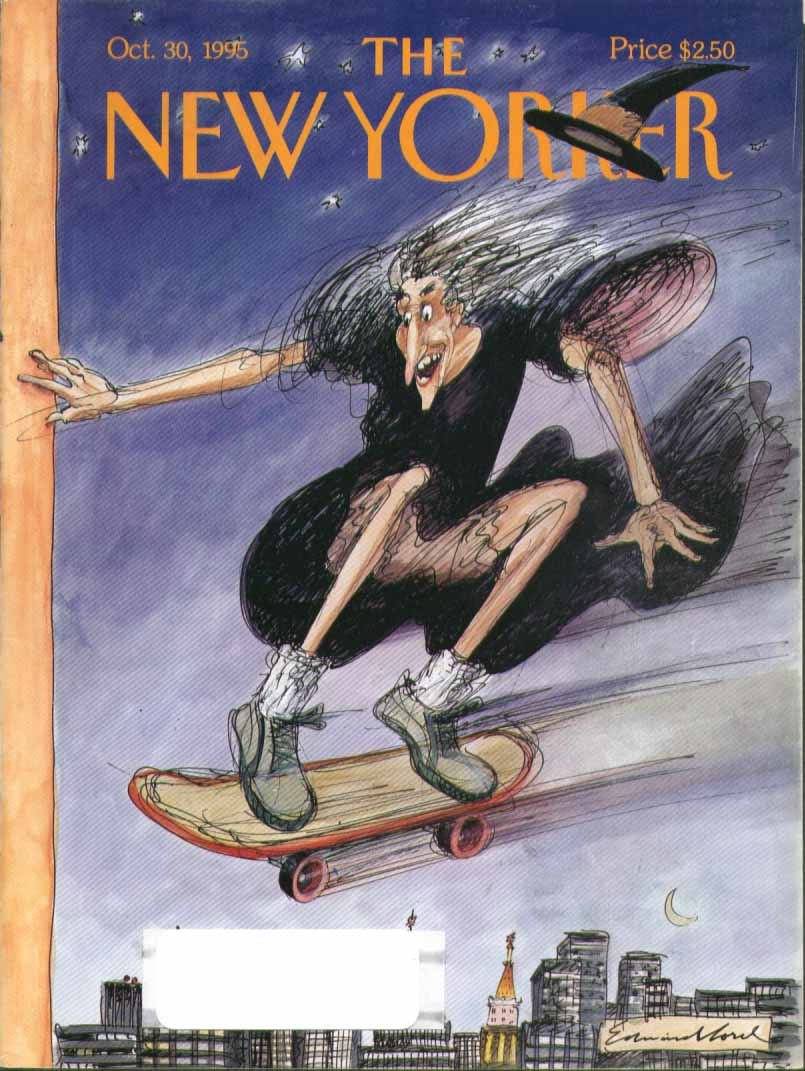 New Yorker cover Sorel skateboard witch 10/30 1995