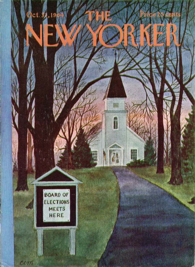 Image for New Yorker cover Martin church election 10/31 1964