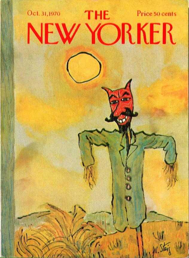 New Yorker cover Steig Halloween scarecrow 10/31 1970