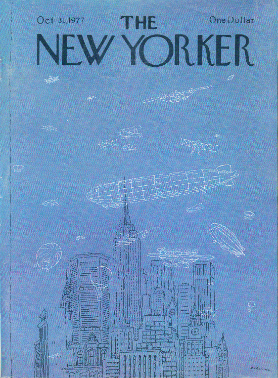New Yorker cover Blechman ghost airships 10/31 1977