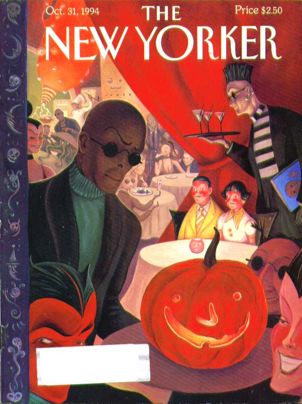 New Yorker cover Halloween nightclub scene 10/31 1994