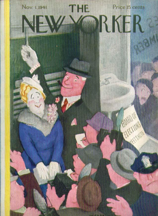 New Yorker cover Cotton Politico & Wife vote 11/1 1941