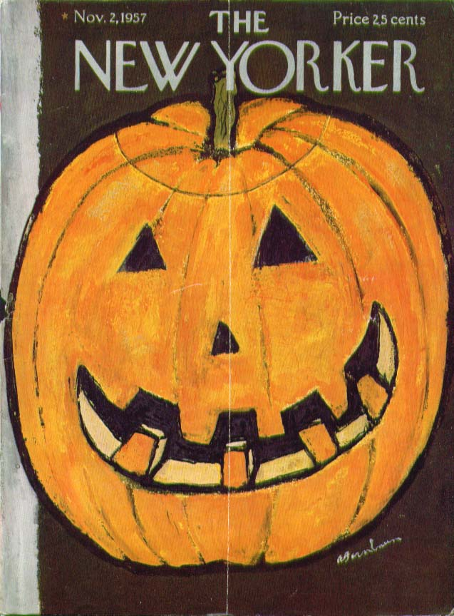 New Yorker cover Birnbaum huge Jack-o-Lantern 11/2 1957