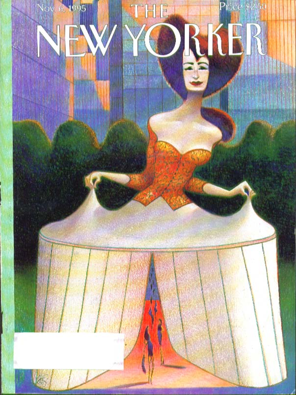 New Yorker cover Mattiotti hoopskirt entrance to fashion catwalk 11/6 1995