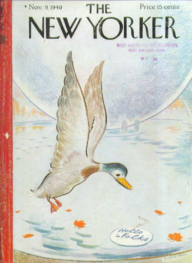 New Yorker cover Price World's Fair tag pool 11/9 1940