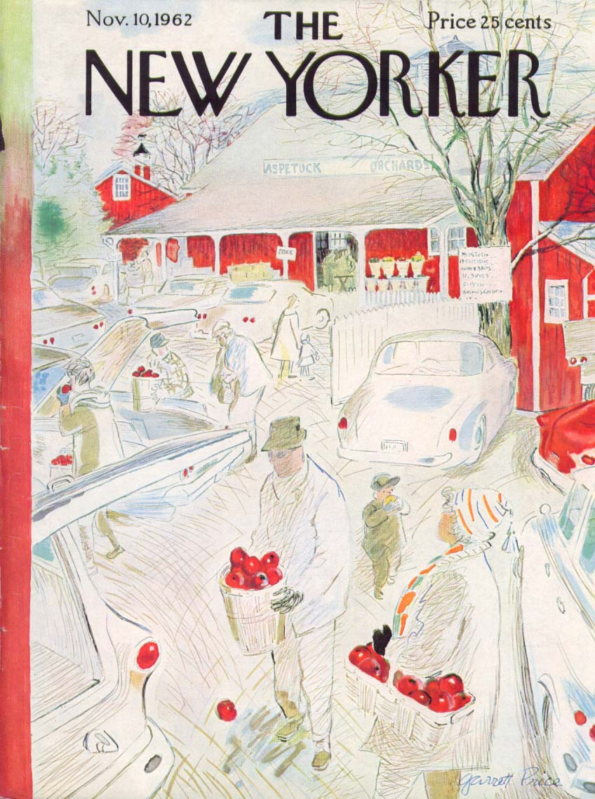 New Yorker cover Price Aspetuck Orchard 11/10 1962
