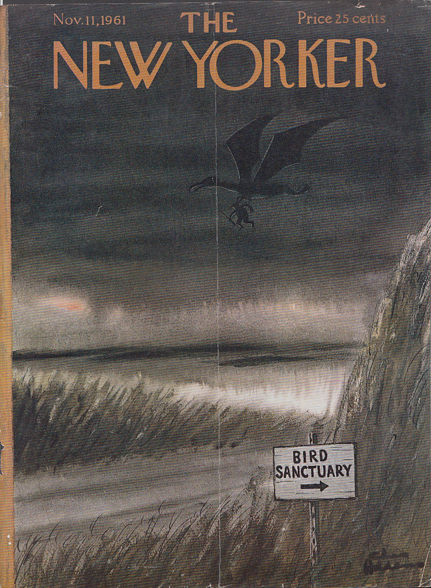 New Yorker cover Addams Pterodactyl victim 11/11 1961