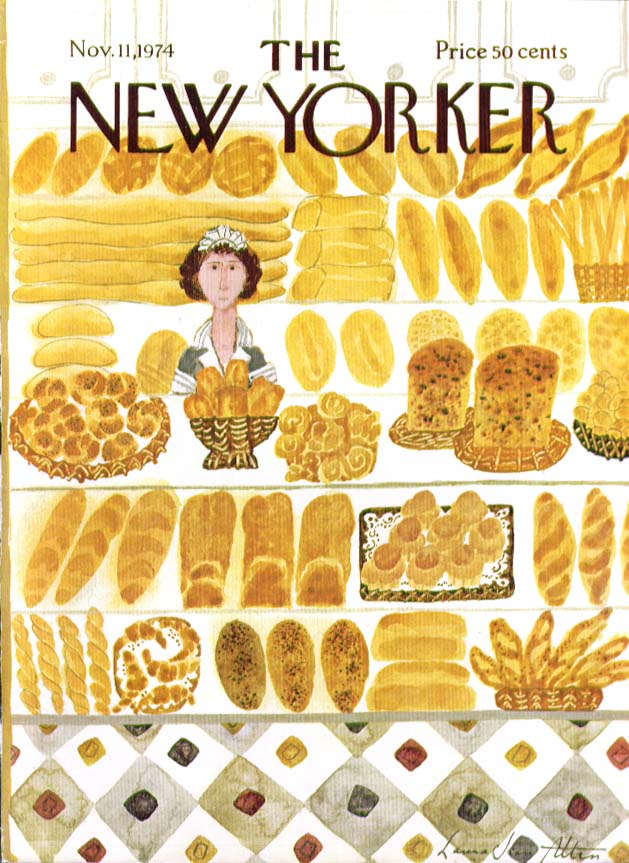 New Yorker cover Allen bakery goods breads 11/11 1974