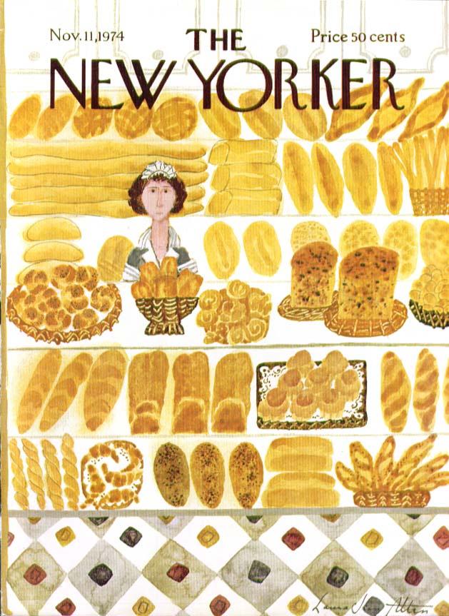 New Yorker cover Allen bakery goods breads 11/11 1974