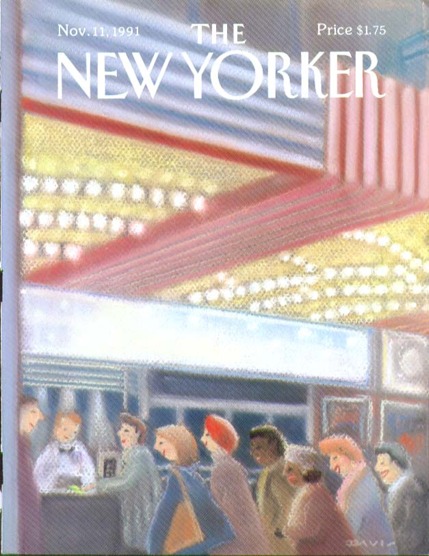 New Yorker cover lady matinee goers buying tickets 11/11 1991