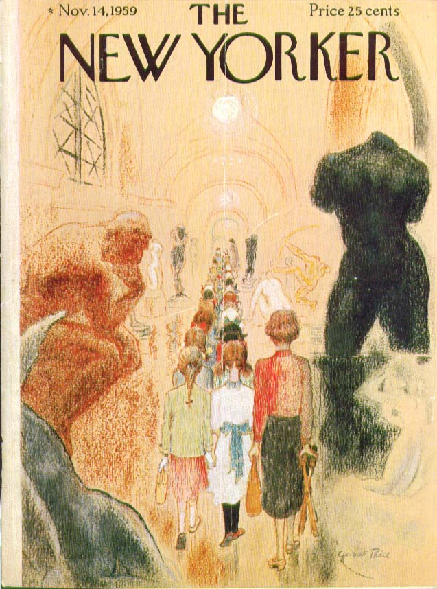 New Yorker cover Price girls art class museum 11/14 1959