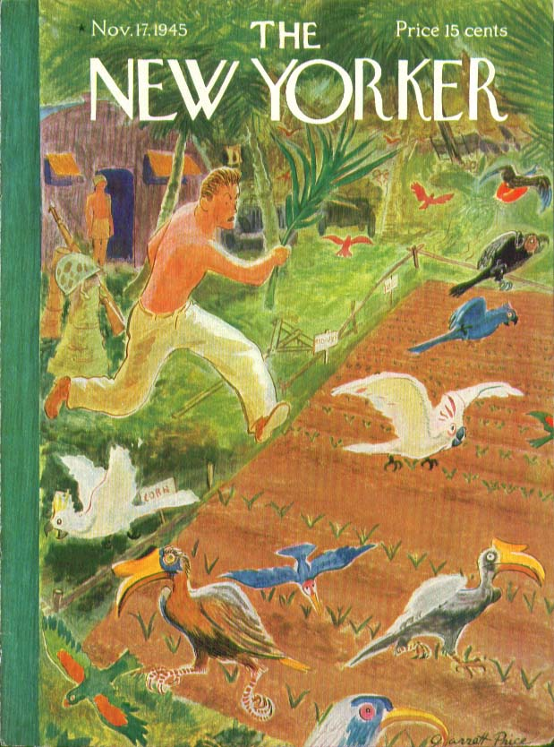 New Yorker cover Price exotic garden pests 11/17 1945