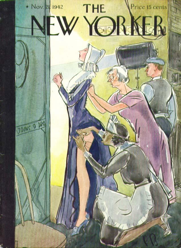 New Yorker cover Barlow garm on Priscilla 11/21 1942