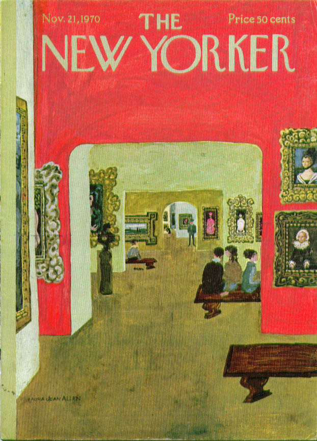 New Yorker cover Allen art museum 11/21 1970