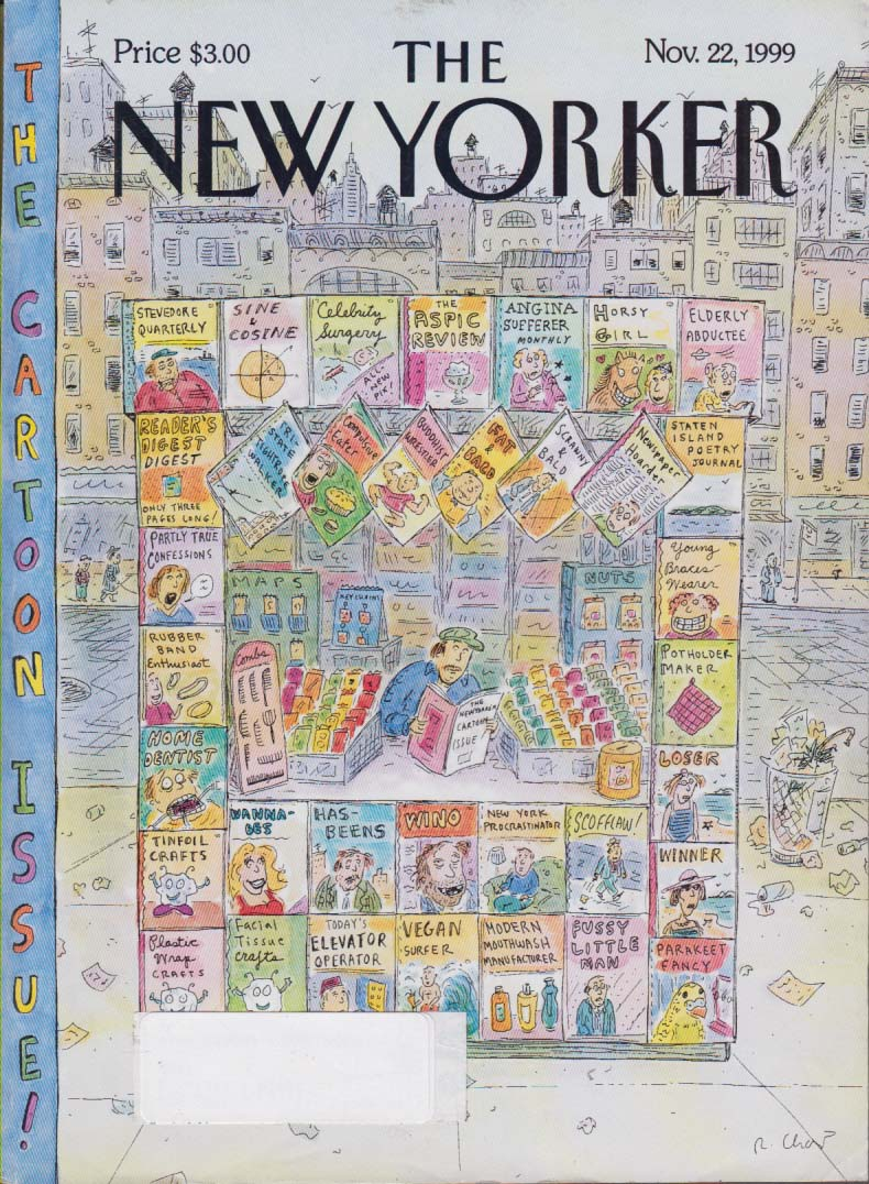 New Yorker cover Chast newsstand zines 11/22 1999