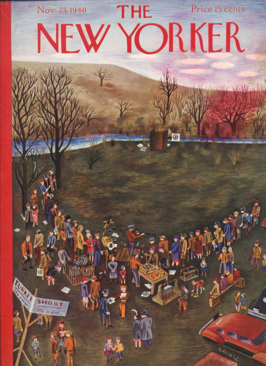 New Yorker cover Karasz country turkey shoot 11/23 1940