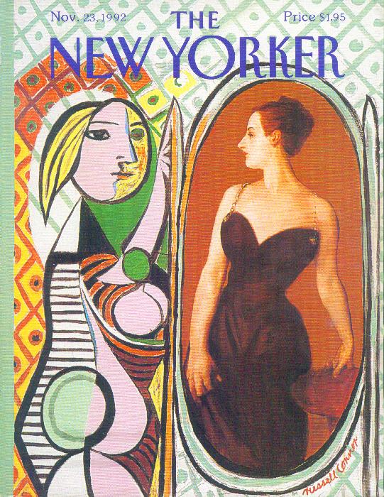 New Yorker cover Connor Picasso in mirror 11/23 1992
