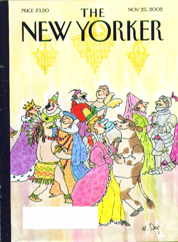 New Yorker cover William Steig Thanksgiving costume party dancers 11/25 2002