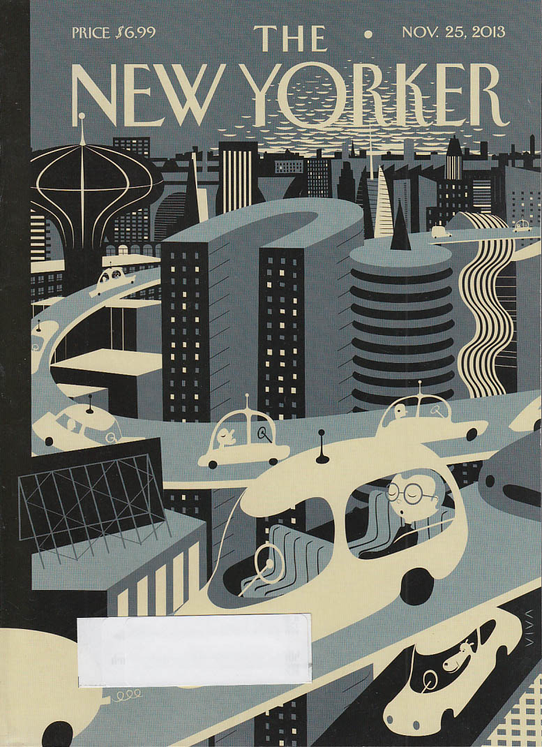New Yorker cover 11/25 2013 Viva: Self-driving cars of futurama