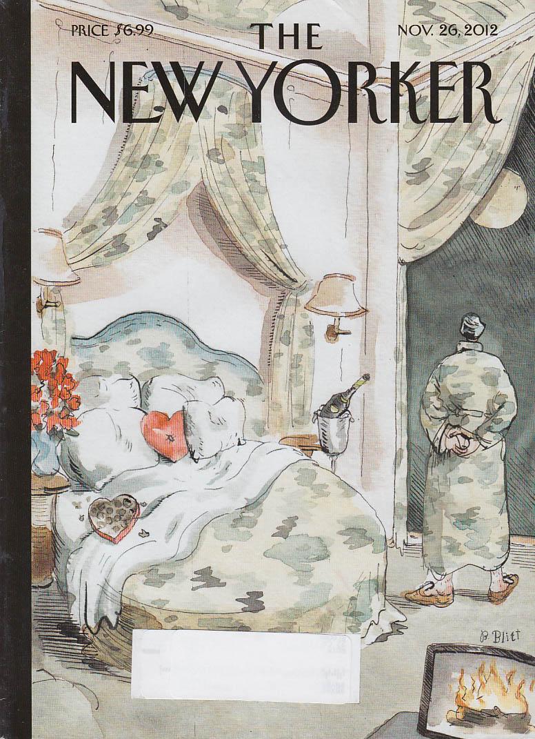 New Yorker cover Blitt 11/26 2012 Terrorist in camouflage bedroom