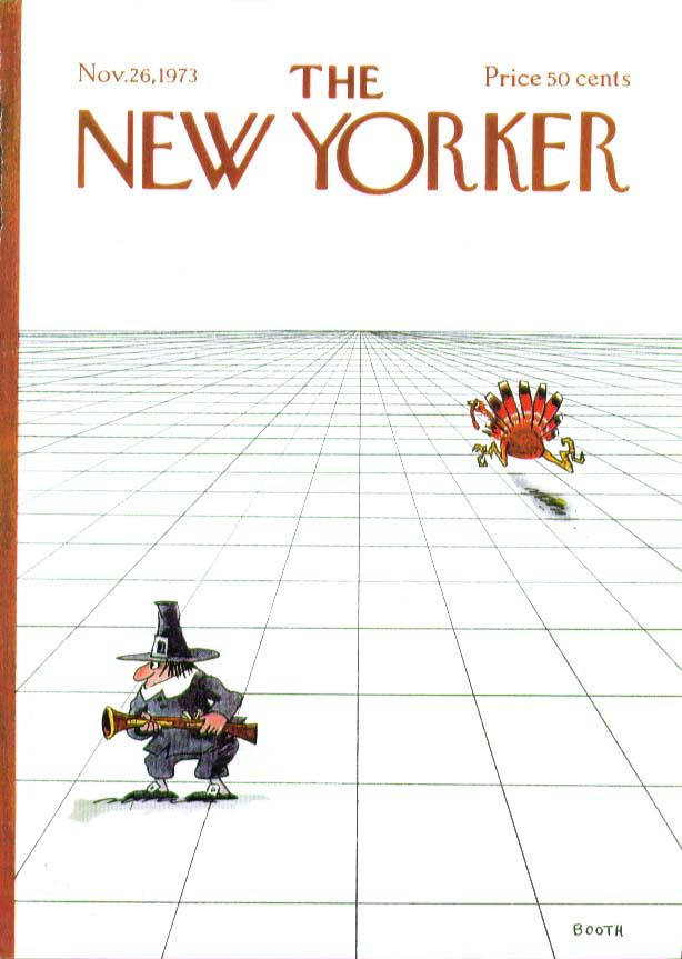 New Yorker cover Booth Pilgrim vs Turkey 11/26 1973