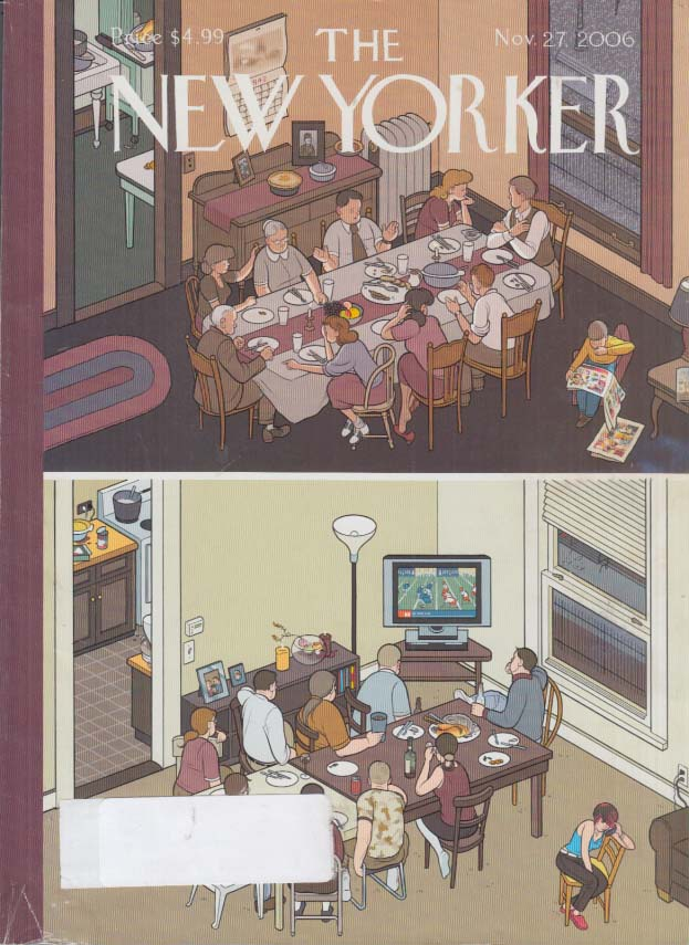 New Yorker cover Chris Ware Penrod Pigeon Thanksgiving Story 11/27 2006