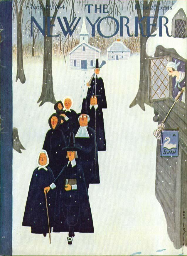 New Yorker cover Irvin Pilgrims eye inn maid 11/27 1954
