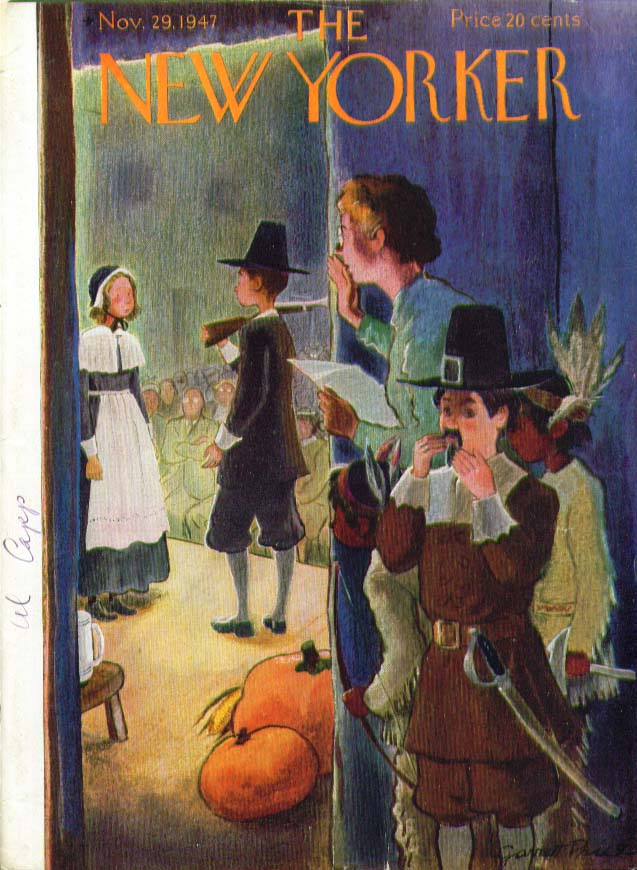 New Yorker cover Price Thanksgiving pageant 11/29 1947