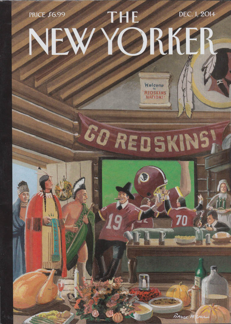 New Yorker cover 12/1 2014 Washington Redskins Thanksgiving Native Americans