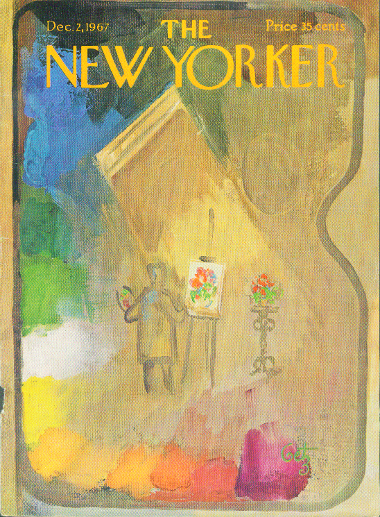 Image for New Yorker cover Getz artist's palette 12/2 1967