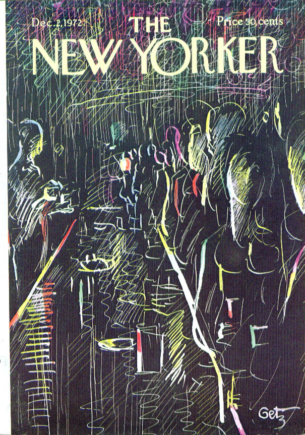 Image for New Yorker cover Getz the bar scene 12/2 1972
