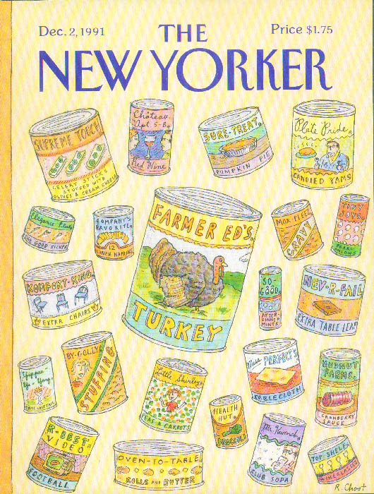 New Yorker cover Chast canned Thanksgiving 12/2 1991