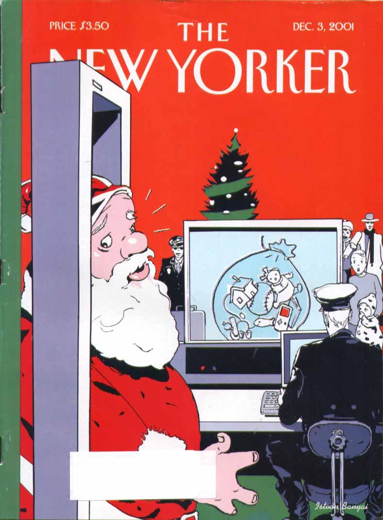 New Yorker cover Banyai Santa airport scan 12/3 2001