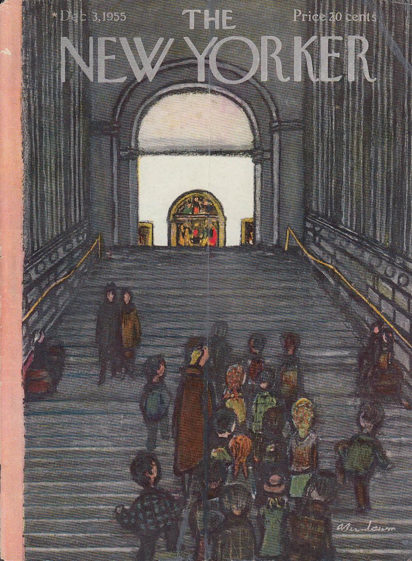 New Yorker cover Birnbaum museum stairs 12/3 1955