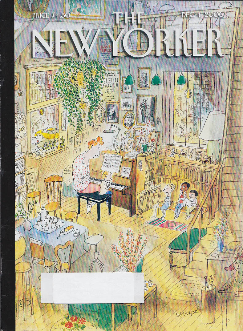 Image for New Yorker cover Jean-Jacques Sempe a piano teacher & her wee students 12/4 2006