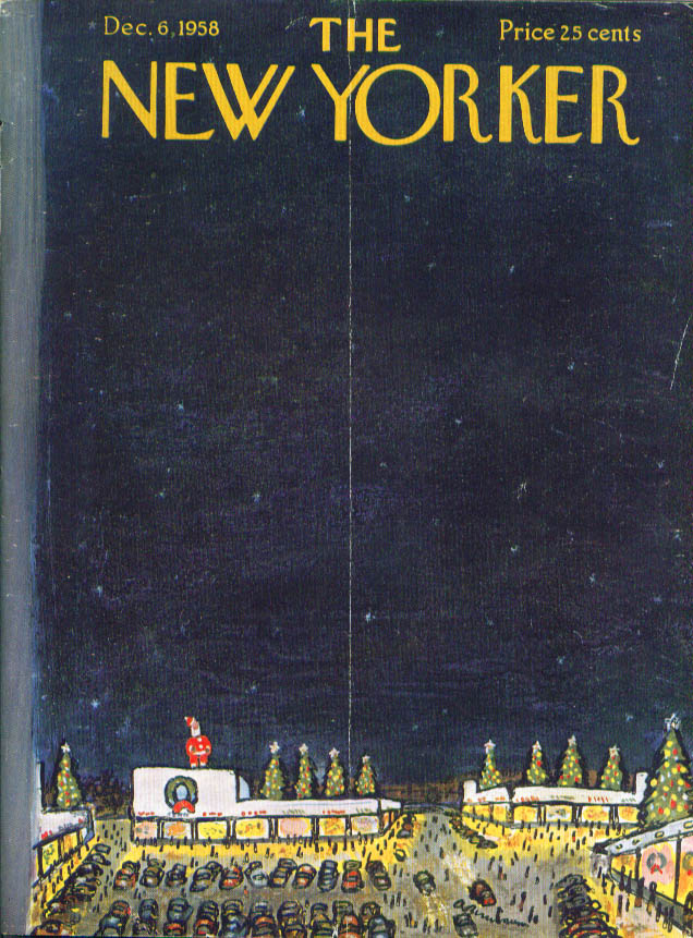New Yorker cover Birnbaum Christmas Shopping center 12/6 1958