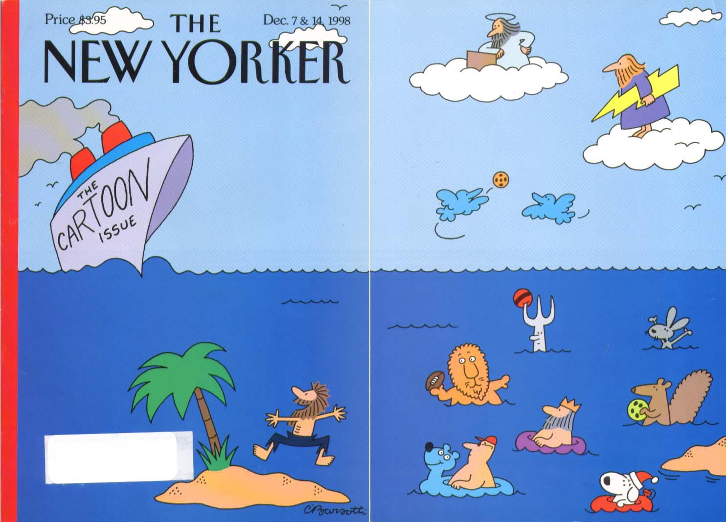New Yorker cover Barsotti desert isle rescue 12/7 1998