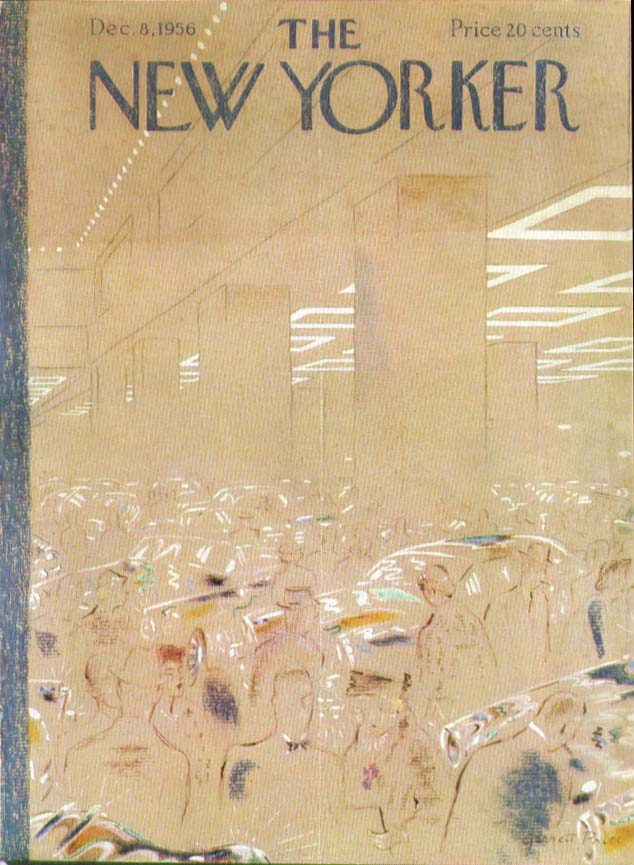 New Yorker cover Price auto show 12/8 1956