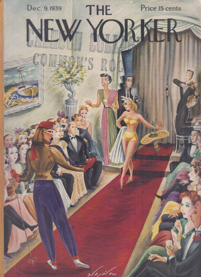 New Yorker cover Alajalov Winter Summer wear 12/9 1939