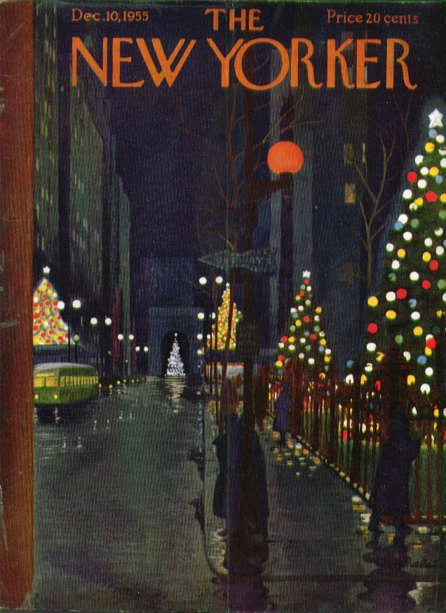 New Yorker cover Alain W 12th St Xmas night 12/10 1955