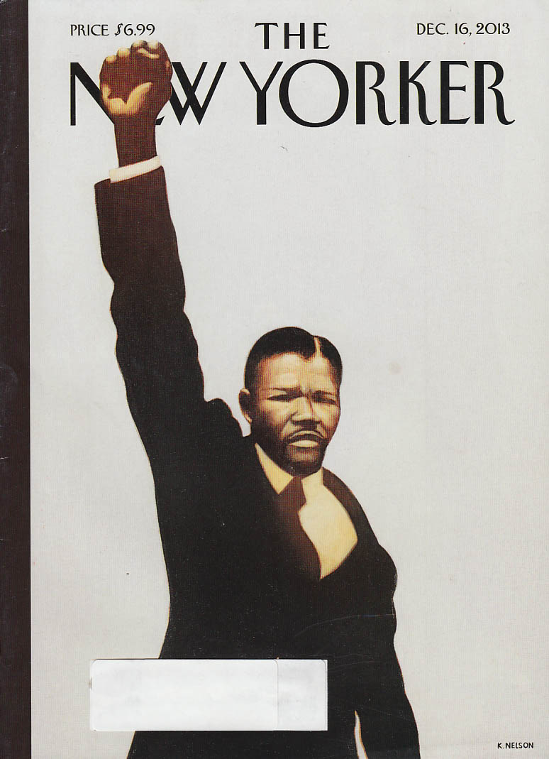 New Yorker cover 12/16 2013 Nelson: Nelson Mandela free at last