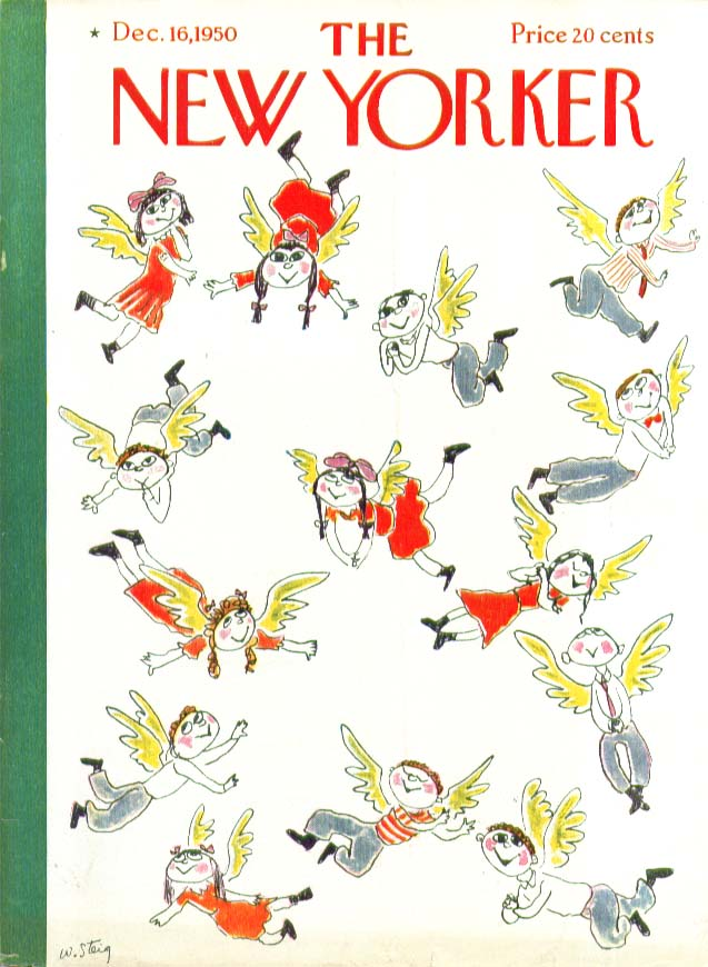 New Yorker cover Steig every kid an angel 12/16 1950
