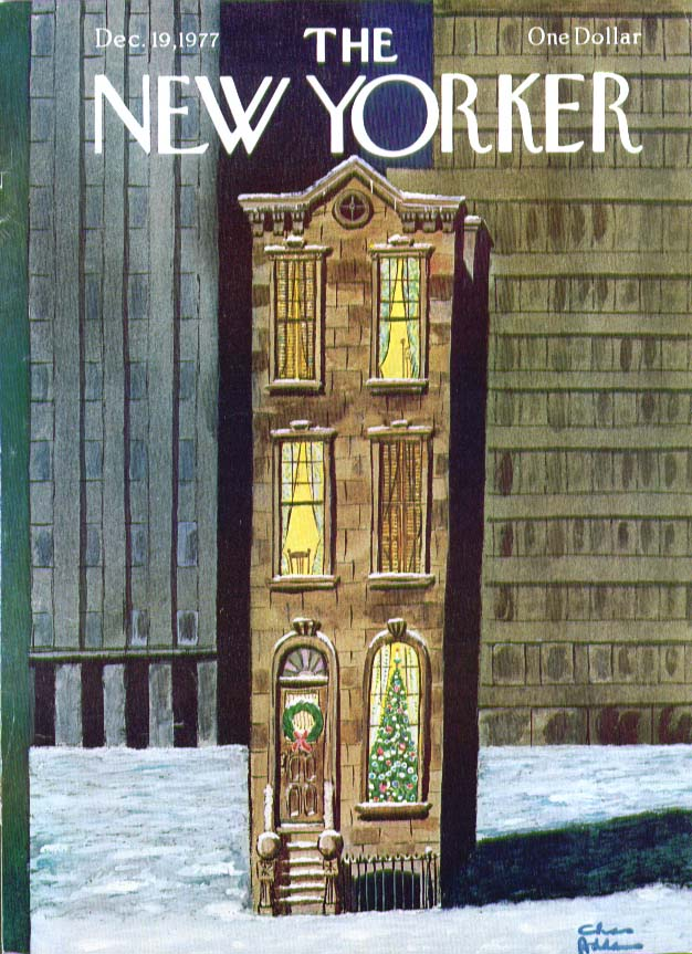 New Yorker cover Addams lone brownstone 12/19 1977