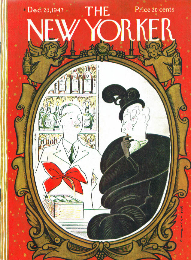 New Yorker cover Irvin dowager buy booze 12/20 1947