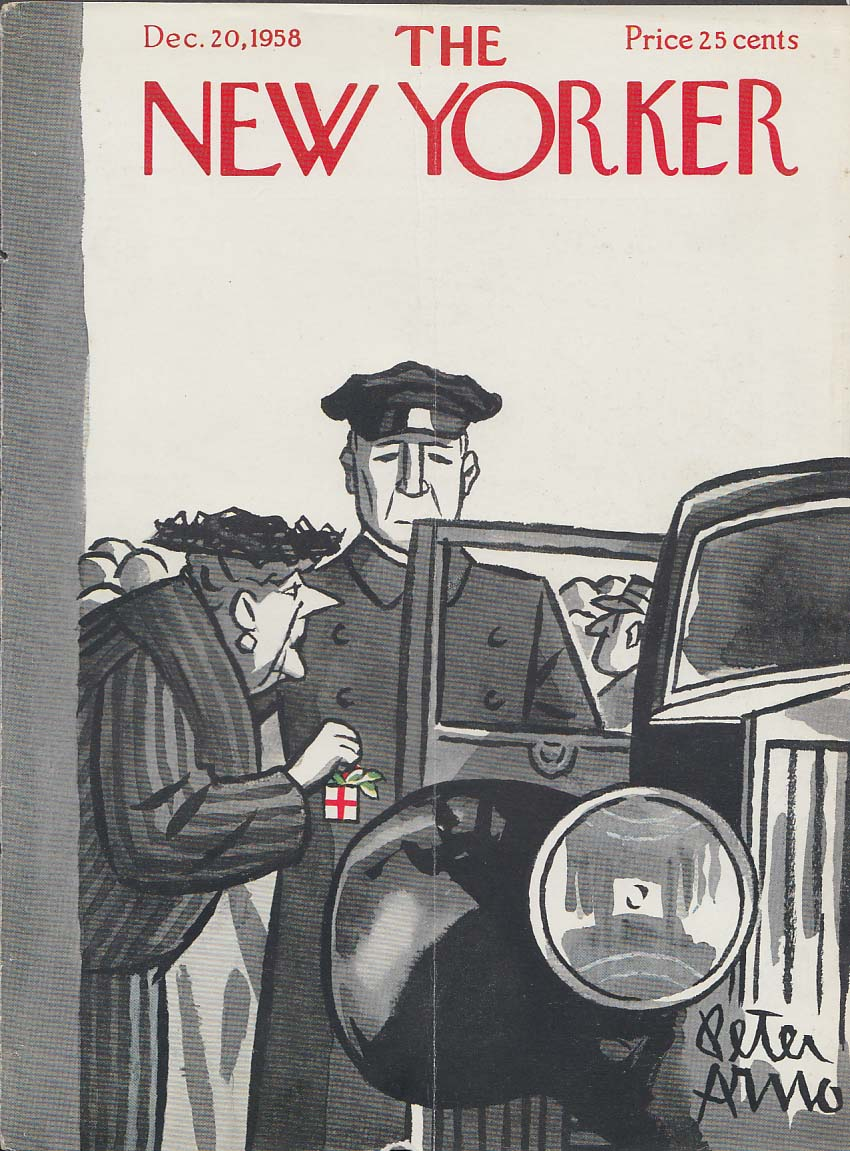 New Yorker cover Arno dowager Christmas box 12/20 1958
